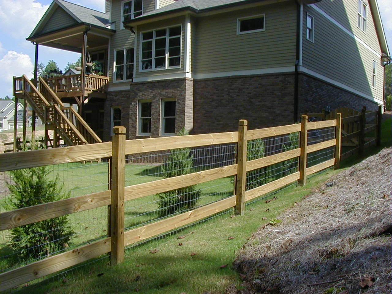Pole Fence Designs Rail fence pictures marietta ga 903 treated pine ranch rail with wire workwithnaturefo
